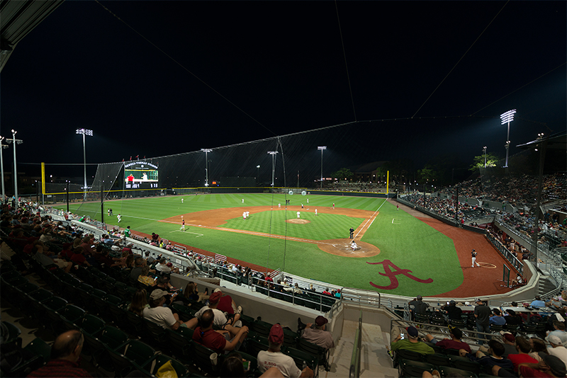 Sewell-Thomas Stadium, Home of the Crimson Tide Baseball, Tuscaloosa, Alabama, USA